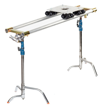 """Rent DIY """"Dana""""-style Dolly / Slider with 4'/6'/8' rail / track + Manfrotto 502HD Fluid Head"""
