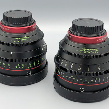 Rent 5 Lens Set: Canon L, CN-e and Sigma EF Lenses (Interview / Documentary Kit) + Tiffen ND Filters