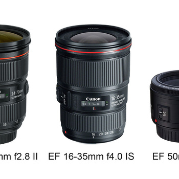 Rent Canon EF 3 Lens Package