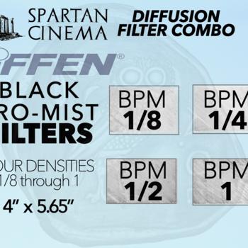 Rent 4x Black Pro Mist Filters 1/8, 1/4, 1/2 & 1 Tiffen Diffusion