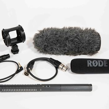 Rent Rode NTG2 Shotgun kit with Tascam audio recorder + Carbon Boom Pole