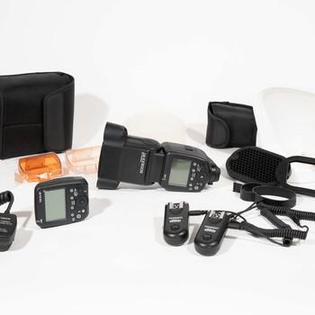 Rent Canon Speedlite 600EX II-RT kit w/ wireless transmitter + Magmod modifiers +++