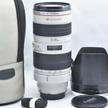 Rent Canon Telephoto 70-200mm f2.8 lens with lens hood