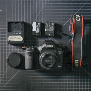 Rent Canon 5D Mark III with Two Batteries, Charger, & Easily Removable Camera Strap
