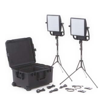 Rent (2x) Astra bi-color LED kit with (2X) light stands