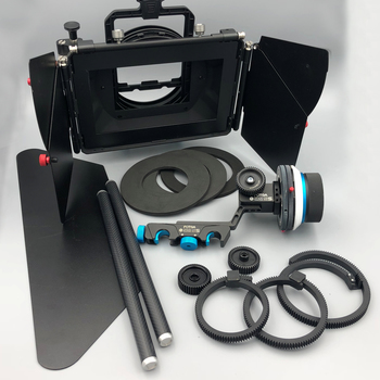 Rent Matt Box with Filter Holder + Follow Focus Complete KIT! 15mm rods, DSLR Lens Adapters