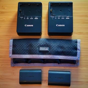 Rent Canon LP-E6 Batteries & Chargers