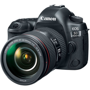 Rent Canon EOS 5D Mark IV w/ 50mm, 24-105mm, 70-300mm Lenses, Tripod, Extra battery