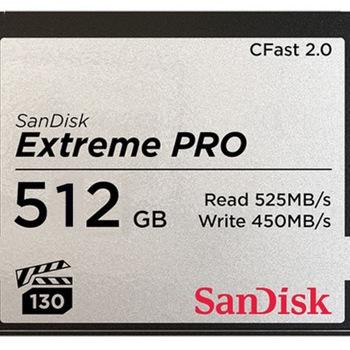 Rent Sandisk 512gb C Fast Card - works in Ursa Mini, C300, but not arri cameras