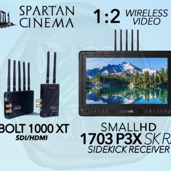 "Rent Teradek Bolt 1000 XT, 17"" SmallHD 1703 P3X SK RX Monitor 1:2"
