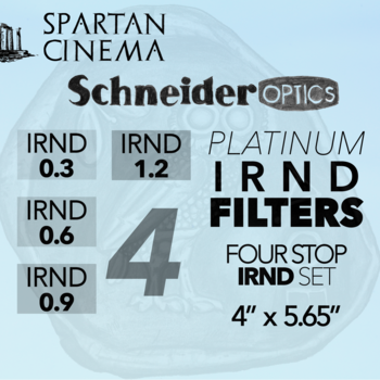Rent 4x Schneider 4x5.65 Platinum IRND Filters (0.3, 0.6, 0.9, 1.2)