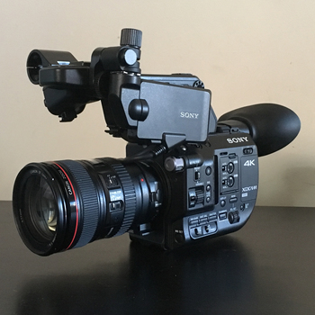 Rent Sony FS5 with Metabones Speed Booster, Canon 24-105mm lens and Rode smartLav