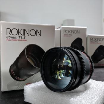 Rent Rokinon Cine Prime T1.5 Kit. 24mm,35mm,50mm,85mm