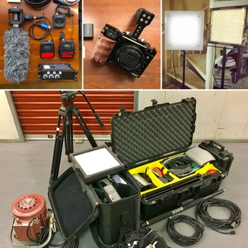 Rent CAMERA (Sony a6500) + SOUND + LIGHTS -- Ready To Shoot Package