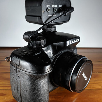 Rent Panasonic GH4 with Meike 35mm F1.7 Manual Focus Prime and Mini Audio Mixer