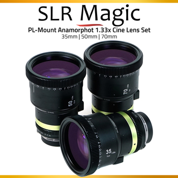 Rent SLR Magic Anamorphot-Cine Anamorphic 1.33x - 3 Lenses Set