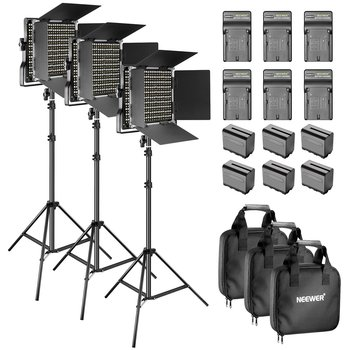 Rent Neewer 3 Pieces Bi-Color 660 LED Video Light and Stand Kit