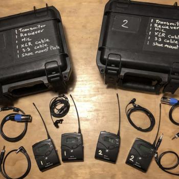 Rent 2 Sennheiser G4 Wireless Lav kits