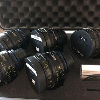 Rent Arri Zeiss Ultra16 t1.3 Super16 five (5) lens set - 6mm, 8mm, 12mm, 18mm, 35mm