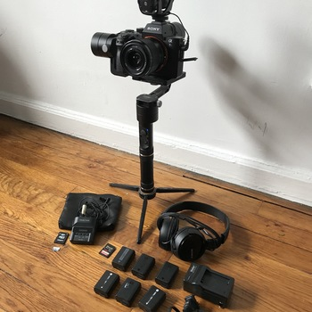 Rent Sony A7sii gimbal kit with audio - Rode VideoMic and Tascam