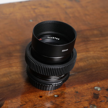 Rent Zeiss Contax 50mm f/1.4 + Leitax EF Mount + Focus Gear
