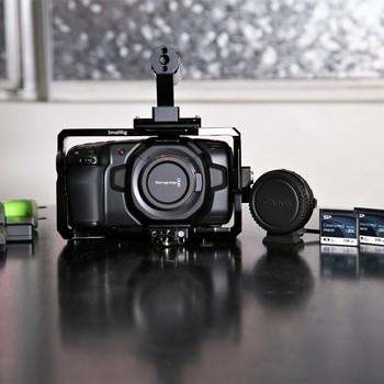 Rent Blackmagic Pocket Cinema Camera 4K, Media, EF Adapter, Cage