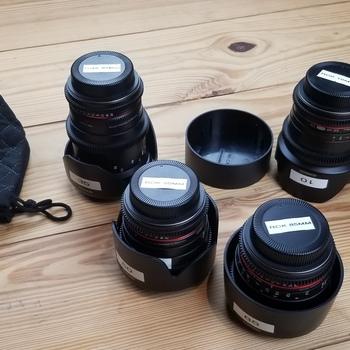 Rent Rokinon Cine DS Lens Kit - 10mm, 35mm, 50mm, 85mm