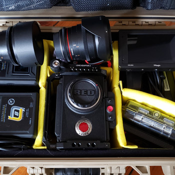 """Rent RED Raven 4.5K Kit Ready to Shoot. (2x Lenses OR 1x 5.5"""" OLED Monitor)"""