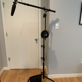 Rent full boom mic kit for sit-down interview setup