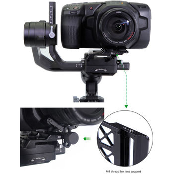 Rent Offset Plate for BMPCC 4K Camera with DJI Ronin-S (LanParte)