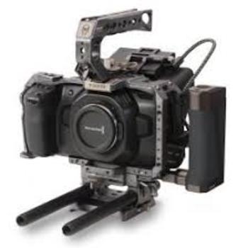 Rent Black magic 4k with Tilta cage, SSD drive, and Vlock batteries, EF metabones, pelican case