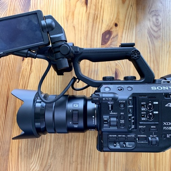 Rent Sony FS5 Mk 2 with 18-105 f/4 lens, dual SDXC II cards, 3x batteries, and Sennheiser mic!