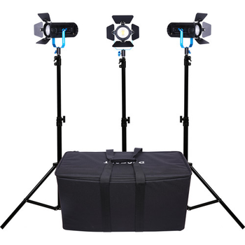 Rent Dracast Boltray 600 Plus LED Bi Color 3 Light Kit with Stands and 6x NP batteries