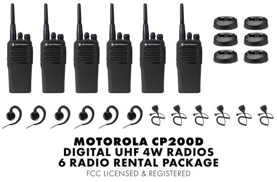Motorola cp200d 6 rental desktop package