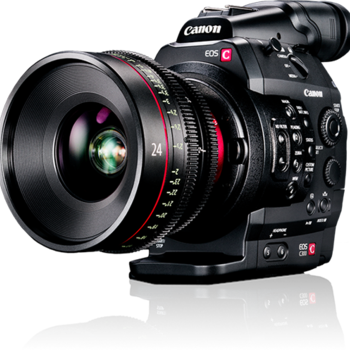Rent Canon C300 with Zacuto Shoulder Rig, CF Cards & Batteries
