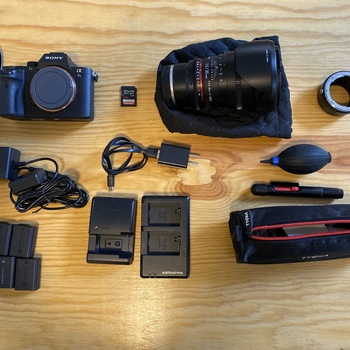 Rent Sony A7s II Kit with Rokinon 35mm 1.5 Prime Lens