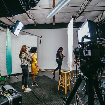 Rent Film/Photography Studio w/ 25' Cyc Wall & RGB Lighting