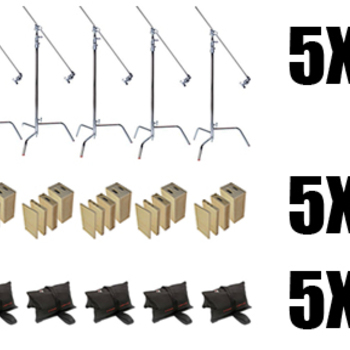 Rent 5X C-STAND | 5X APPLE BOX FAMILIES | 5X SAND BAGS