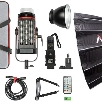 Rent Aputure Light Storm C300d Mark II LED Light Kit + Light Dome II + Light Stand