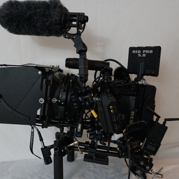 Rent RED SCARLET X FULLY LOADED PACKAGE WITH RED ROCK WIRELESS FOCUS COMBO,FULL DIRECTOR MONITOR WITH PULL FOCUS (a/c),MATTE BOX WITH FILTER,SHOTGUN MIC,BLACKMAGIC MONITOR,MANFROTTO TRIPOD AND MUCH MORE