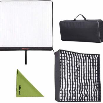 Rent Falcon Eyes RX-24TDX 2x2 Bi-Color Dimmable Flexible LED with softbox | 150W Roll-Flex LED Light with RX-24TDXSBHC Honeycomb Grid Softbox Bi-Color Dimmable 3000K-5600K Light Compatible with DMX 512 (24TDX with RX-24TDXSBHC)