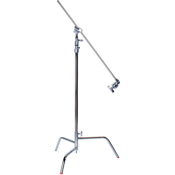 "Rent C stand (10.75') with collapsable turtle base, 2.5"" grip head and 40"" extension arm."