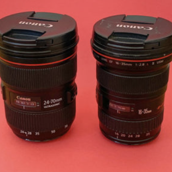 Rent TWO LENSES -- Canon EF 24-70mm + 16-35 (both f/2.8 L II)