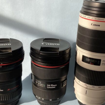 Rent Three Fast Canon Lens! 70-200mm 2.8 iii/16-35 +24-70 2.8 ii