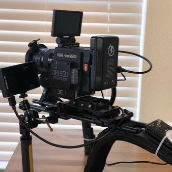 Rent RED Raven 4.5 EF Shooting Package with Lens, Tripod, and Shoulder Rig