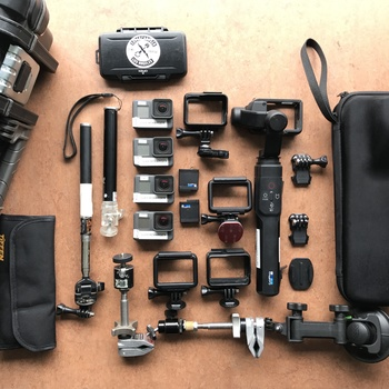 Rent GoPro Hero 7 - Full action Kit with Karma Gimbal (4 cameras)