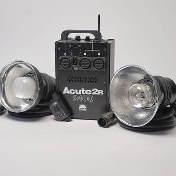 Rent Profoto Acute 2R 2400 kit -  1 pack, 2 heads, 2 reflectors, 1 head extension, 1 pocket wizard