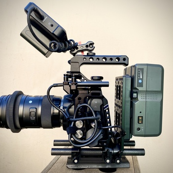 Rent BlackMagic Cinema Camera 6k + Sigma Lens etc.