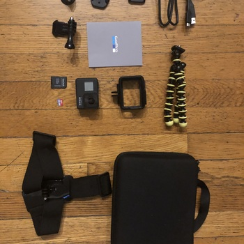 Rent GoPro HERO7 Black w/ SD Card, Case, Mounts & Head Strap - Kit