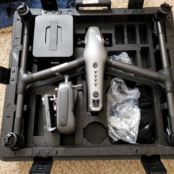 Rent DJI Inspire 2 with Zenmuse x5s, 4 batteries and available lenses.